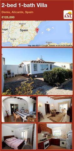 2-bed 1-bath Villa in Denia, Alicante, Spain ►€125,000 #PropertyForSaleInSpain