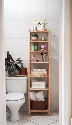 Modern Bathroom Decor, Simple Bathroom, Home Decor Kitchen, Home Decor Bedroom, Bathroom Interior, Scandinavian Bathroom, Bathroom Ideas, Bohemian Bathroom, Apartment Bathroom Design