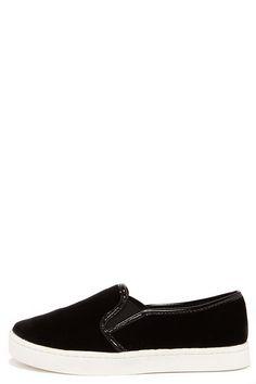 Report Areva Black Velvet Slip-On Sneakers at Lulus.com!
