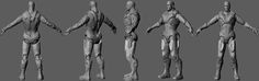 I am attempting to sculpt iron man in z brush then move it into solidworks to make the joint systems actually work for my thiesus project at AIP Man Projects, Zbrush, Iron Man, Sculpting, Calves, Behance, Sculpture, Baby Cows, Iron Men