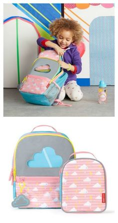 Skip Hop forget me not backpack sets are genius: If the lunch bag isn't showing through the window, kids know they forgot it!