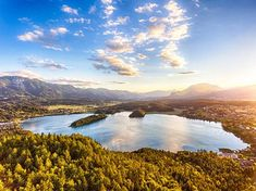 View of lake Faaker See in Carinthia, Austria Stock Photo , Carinthia, Austria, River, Stock Photos, Mountains, Nature, Outdoor, Lake View, Logo Templates