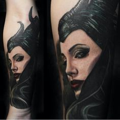 Amazing #Maleficent #tattoo by Carlos Rojas