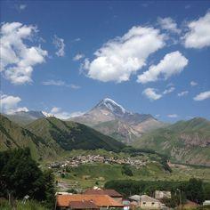 Mt Kazbek and Gergeti Sameba Church