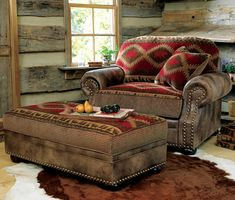 Log cabin homes from Canadian Log Homes. We have an extensive collection of rustic decor, rustic bedding, log cabin furniture and log home floor plans. Log Cabin Furniture, Western Furniture, Rustic Furniture, Home Furniture, Rustic Chair, Furniture Stores, Sunroom Furniture, Furniture Cleaning, Farmhouse Furniture
