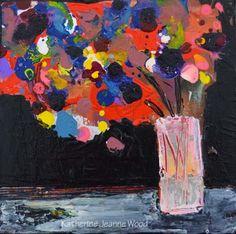 Katherine Jeanne Wood - 6x6 Flower Series No 49 01