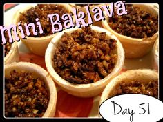 Laura's Mini Baklava [DAY 51]  ★ watch the video: http://youtu.be/uuzBpKWx-TQ ★  I'm trying A NEW RECIPE OF Laura in the Kitchen EVERY DAY and sharing its conversion into the metric system, come and join me on my yummy challenge! :)
