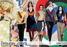 Ảnh hưởng của Delaunay lên các thiết kế ngày nay (BST mùa đông 2011). Hình ảnh các NTK lấy cảm hứng từ màu sắc trong các tác phẩm của Sonia, trong đo có nhiều NTK nổi tiếng