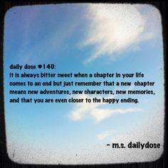 #dailydose #positivity #newchapter #newbeginnings #life