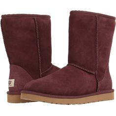 UGG Classic Short ($155) ❤ liked on Polyvore featuring shoes, boots, ankle booties, ugg, port, short booties, ugg australia, ugg australia boots, woven boots and light weight boots