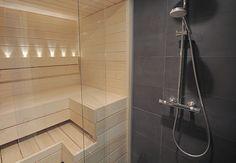 saunan lasiseinä Bathtub, Saunas, Bathroom, Mood, Standing Bath, Washroom, Bathtubs, Bath Tube, Full Bath
