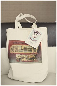 Love destination themed hotel welcome bags! Amber & Austin: Asbury Park New Jersey Wedding
