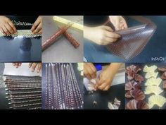 """How To Make Chocolate Garnish - possible chocolate """"push fans"""" for one of the cake tiers? How To Temper Chocolate, Chocolate Work, How To Make Chocolate, Chocolate Ganache, Chocolate Desserts, Chocolate Showpiece, Chocolate Garnishes, Cake Decorating Piping, Chocolate Cake Recipe Easy"""