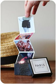 DIY: mini recuerdos de las vacaciones - DIY: mini photo album