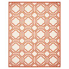 Safavieh Marseille Indoor / Outdoor Area Rug - Ivory / Orange (9' X 12'), Ivory/Orange