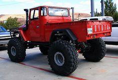 Red FJ 45 Big Foot