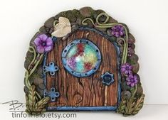 Wee fairy door by TinfoilHalo