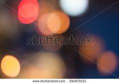 Defocused or bokeh night lights background.