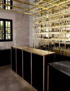 brass sheets brass bar in perfume shop
