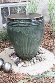 DIY backyard fountain- complete with tutorial! Posted by Hip House Girl under Yard