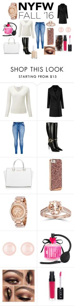 """""""NYFW FALL"""" by fashionistagirl9898 on Polyvore featuring City Chic, Gucci, Michael Kors, Bliss Diamond, Henri Bendel, Victoria's Secret, Essie, women's clothing, women and female"""