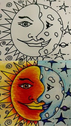 warm cool sun moon - Google Search