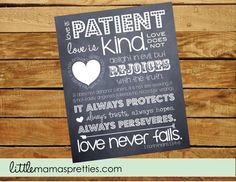 Love is Patient Printable 1 Corinthians 13