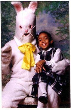 Scary easter bunny photos.