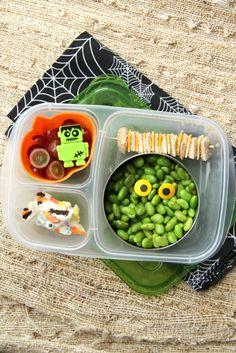 Spooky edamame Halloween bento lunch box on Cool Mom Picks