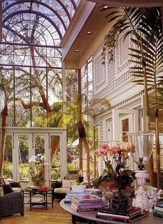 High Ceilings and Glass.  This looks like Sea Island style.