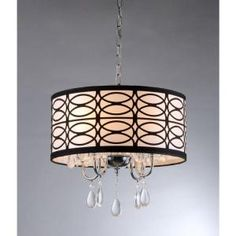 Warehouse of Tiffany, Olga 4-Light Chrome Crystal Ceiling Light, RL4825 at The Home Depot - Mobile