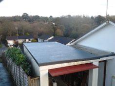Fibreglass Garage In Truro Cornwall Fibre Glass Roof Truro Cornwall, Fibreglass Roof, Modern Basement, Roofing Services, Flat Roof, Fiber, Garage Ideas, Amazing, Outdoor Decor