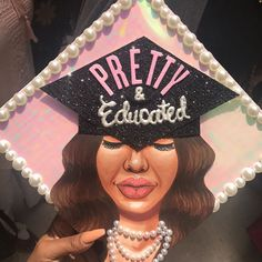 """4,131 Likes, 30 Comments - THE GLAMAHOLIC (@jaylakoriyan) on Instagram: """"My graduation cap was so pretty! Thank you @a.castroart for creating this piece on my cap. It was…"""""""