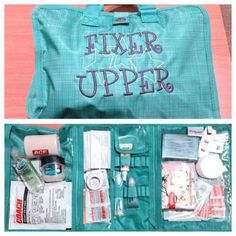 "GREAT IDEA! - ""Timeless Beauty Bag"" used as a First Aid Kit! Love the Personalization!"