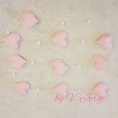 Felt Hearts Garland, Valentine gift,  Home decor, wall decoration, window hanger, window decor