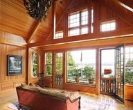 Woodland Point Great Room - traditional - family room - boston - Carl Vernlund