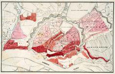 Vintage infographic Cholera in Hamburg (1832)   J. N. C. Rothenburgn #map #hamburg