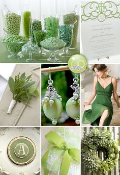 A Wedding Celebration O' Green {Inspiration Board} — Brenda's Wedding Blog - wedding blogs with stylish wedding inspiration boards - unique real weddings - wedding vendor