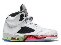 premium selection 5fd48 fc43d Air Jordan 5 (V) Retro Chauassures Officiel Nike Jordan Pas Cher pour Homme