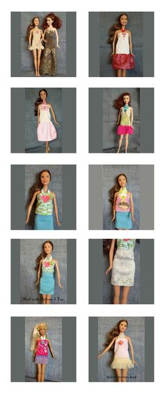Fashion Doll Clothes 2 Embroidery Machine Design Details