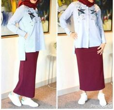 Pencil skirt with hijab-How to have a casual maxi look with hijab – Just Trendy Girls