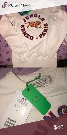 Kenzo x H&M sweatshirt BRAND NEW! Size XS in men but also fits like a S in women Kenzo Sweaters Crewneck