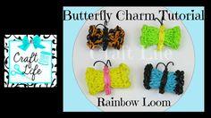 Craft Life Butterfly Charm Tutorial on One Rainbow Loom
