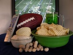 Super Bowl snacking: save money by planning ahead. Tips from Michigan State University extension service.