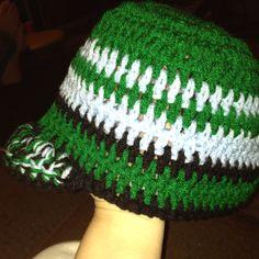 My sons #crochet bogin with brim