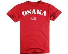 Osaka Shirts Personalized Tshirts In Red Plus Size by ZhengTshirt, $9.99
