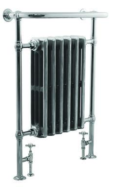 The Haydock towel warmer with radiator insert. Traditional Radiators, Chrome Towel Rail, Radiator Valves, Cast Iron Radiators, Modeling Techniques, Towel Warmer, Sand Casting, Paint Shop, Paint Finishes