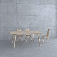 Table AETAS and chair Brettstuhl
