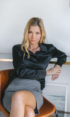 Milano Silk Blouse - Silk Button-Up Shirt Blouse Dress, Dress Skirt, Corset Dresses, Sexy Bluse, Pencil Skirt Black, Pencil Skirts, Mini Skirts, Satin Bluse, Mulberry Silk