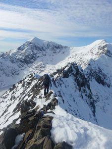 Crib Goch in Winter Snowdonia, Cumbria, Adventure Time, Crib, Fathers, Wales, Climbing, Mount Everest, Card Ideas